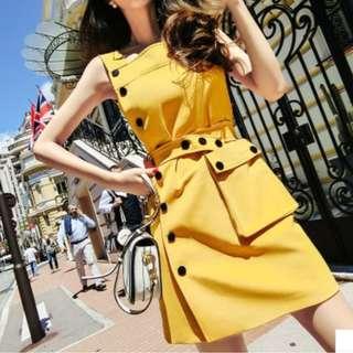 Ladies - Sunny Pinafore Dress L1749