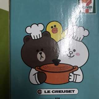 7-11 LE CREUSET FOT LINE FRIENDS 連蓋玻璃杯一套 8隻