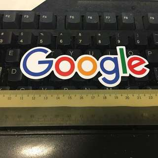 Google stickers - large, waterproof , 12x3.5cm