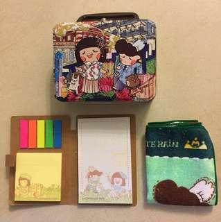 Chocolate Rain 鐵盒、毛巾 及 便條紙 一套