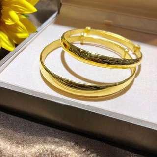 ( P.O. ) 999 hard gold bangle