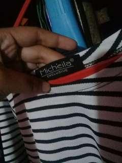 Atasan motif stripe