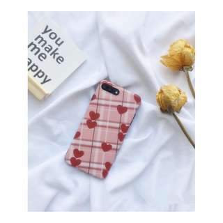 plaid heart IPHONE case