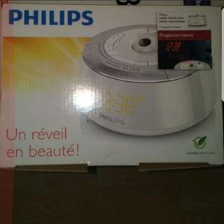 Philips Projection Alarm clock and radio