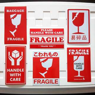 Fragile Sticker 6pc Set Fragile Sticker 6pc Set Travel Mover Post