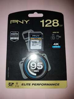 PNY SD Memory Card (128GB| 95MB/s)