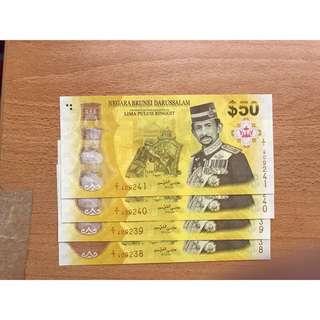 $50 commemorative note - 4 run