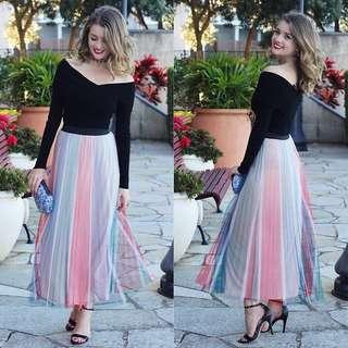 Maje Pleated Skirt