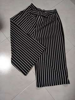 Stripped culottes pants