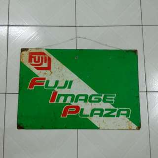 Fuji Image Plaza Tin Sign Vintage