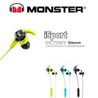 行貨一年保養 Monster iSport Victory 藍芽耳機