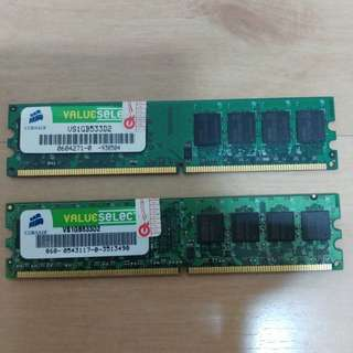 Corsair ValueSelect 1GB DDR2-533 Desktop RAM