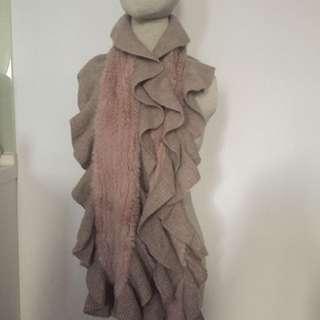 Rabbit fur scarf
