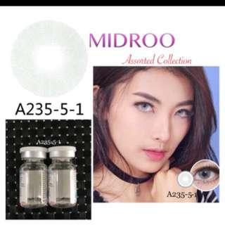 Grey contact lens
