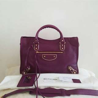 👉NEW - BALENCIAGA City Reguler Ghw 2017 #d