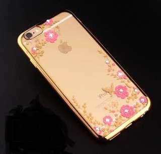 I phone 6plus水鑽硅膠保護套