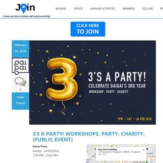 Create and Join Activities with JoinSomething