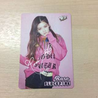 Blackpink - Rose photocard