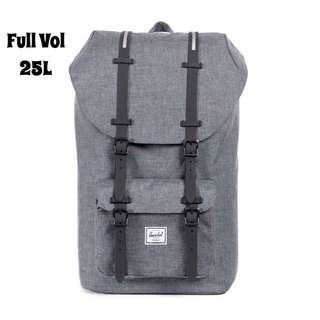 [INSTOCK] HERSCHEL LITTLE AMERICA FULL VOLUME (CHARCOAL CROSSHATCH/BLACK INSERT)