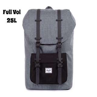 🎉SALE🎉HERSCHEL SUPPLY LITTLE AMERICA FULL VOLUME (CHARCOAL CROSSHATCH/BLACK)