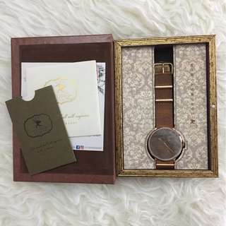 Cupid Memory Watch 40mm Movement - Forest - Rose Gold