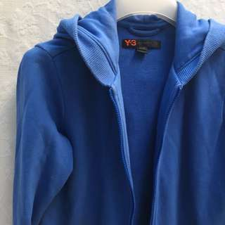 Y-3 彩藍色衛衣zip up外套