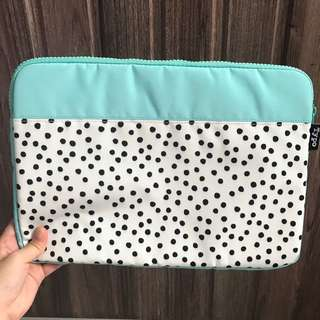 Typo Poka Dots Laptop Case