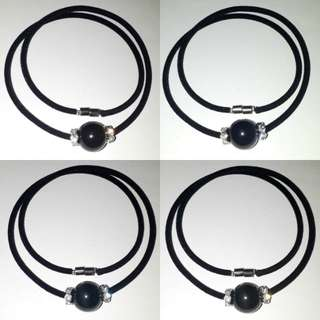 🎆Special Offer🎆 Very Nice and Trendy, Rainbow obsidian + Zirconia spacer Necklace.