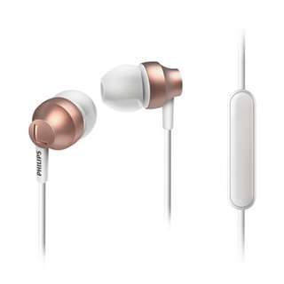 Philips Inear Earphones with Mic in Rose Gold, SHE3855