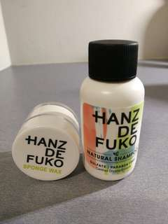 Hanz de Fuko Natural Shampoo + Sponge Wax Sample Set