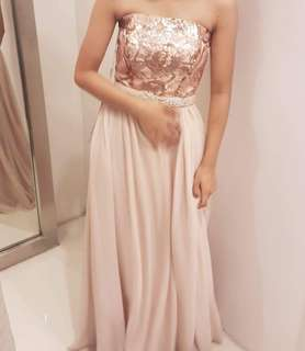 For Rent: Rose gold gown