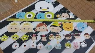 Disney Tsum Tsum 大小貼紙 合共29個