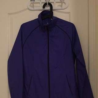 Purple Adidas Windbreaker