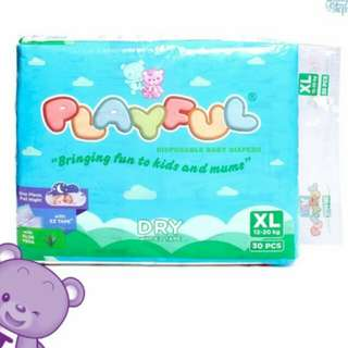 Baby Steps Playful Diaper (XL) @ 8php per piece