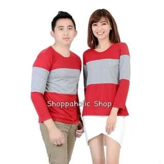 Shoppaholic Shop Baju Couple Stripe