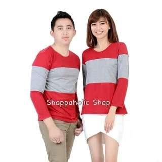 Shoppaholic Shop Baju Couple Stripe