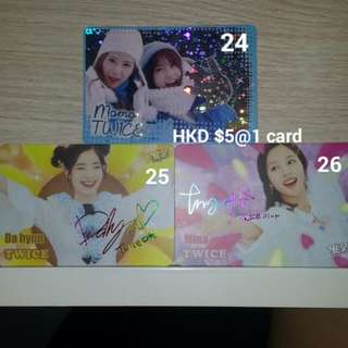 [Yes Card] Twice-Dahyun,Mina,Momo & Sana