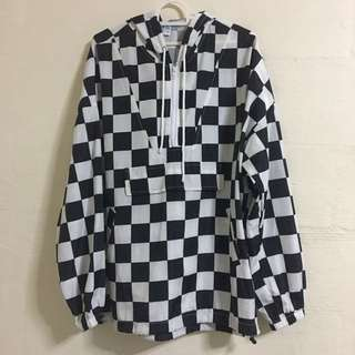 Oversized Checkered Ulzzang Windbreaker