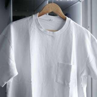Uniqlo heavy cotton box tee (White)