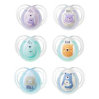 Tommee Tippee 0-6m Night Time Soothers