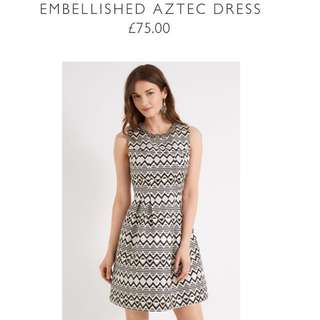 OASIS Embellished Aztec Dress