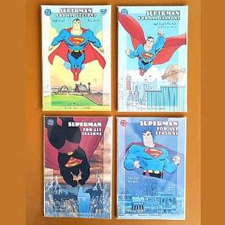 DC Comics Superman For All Season Complete 4 Issue Mini-Series Prestige Format Near Mint Condition Jeph Loeb Story and Tim Sale Art