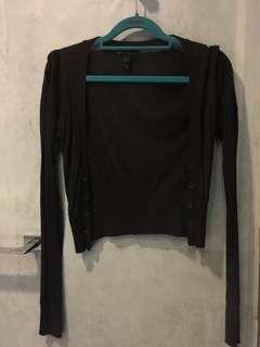 MNG Casual Sportswear black cardigan