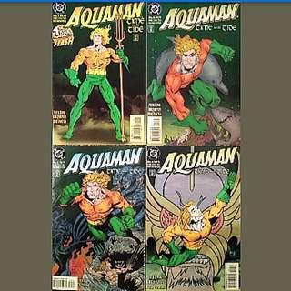 DC Comics Aquaman Time and Tide Complete 4 Issue Mini-Series Near Mint Condition Peter David Story