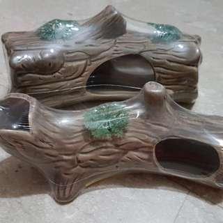 Aquarium fish tank artificial logs - ceramic