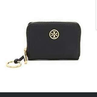 Tory burch leather card case key ring