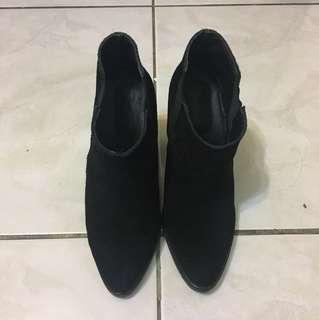 韓國LIME黑色G皮短靴