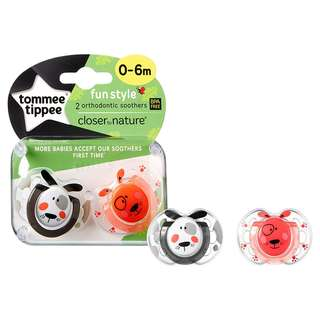 Tommee Tippee 0-6m CTN Fun Style Soothers (2 Pcs)