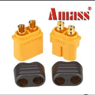 Amass XT60+ Plug Connector With Sheath Housing Male & Female 1 Pair