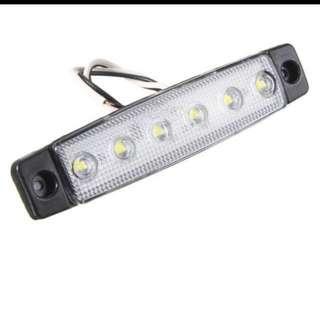 12V 6LED Truck Bus Trailer Side Marker Indicator Light Lamp